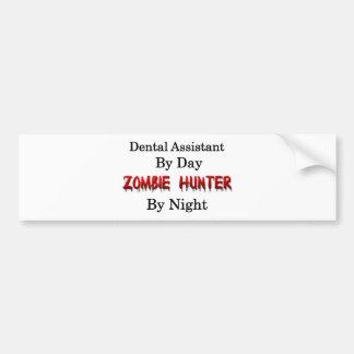 Caçador do assistente dental/zombi adesivo para carro