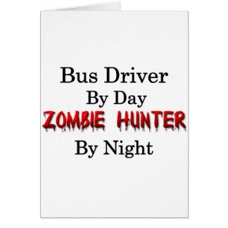 Caçador do condutor de autocarro/zombi cartões
