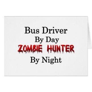 Caçador do condutor de autocarro/zombi cartão comemorativo