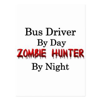 Caçador do condutor de autocarro/zombi cartao postal