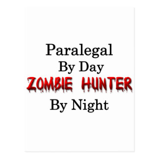 Caçador do Paralegal/zombi Cartão Postal