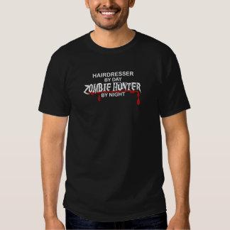 Caçador do zombi do cabeleireiro camisetas