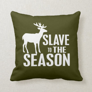 Caçador engraçado dos cervos travesseiro de decoração