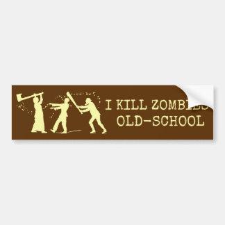 Caçador retro engraçado do assassino do zombi da adesivo para carro