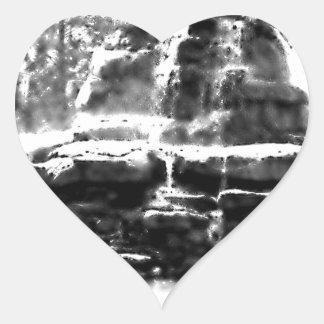 Cachoeira Adesivo Coração