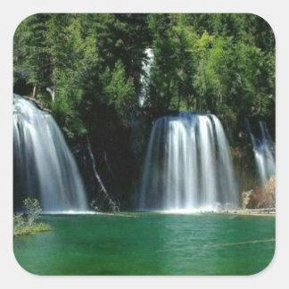 cachoeira adesivos quadrados