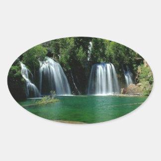 cachoeira adesivos oval