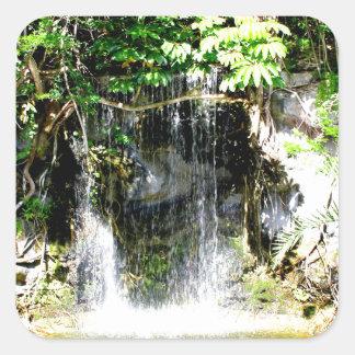 Cachoeira de Sunreflected Adesivo Quadrado