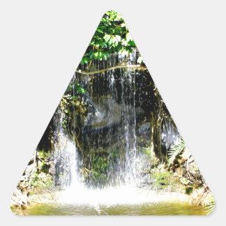 Cachoeira de Sunreflected Adesivo Triangular