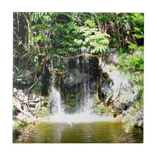 Cachoeira de Sunreflected Azulejo Quadrado Pequeno