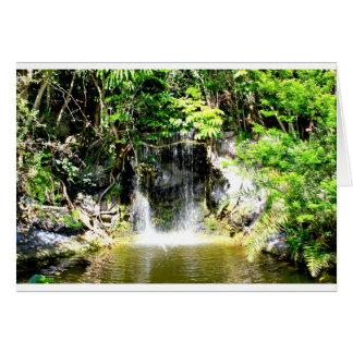 Cachoeira de Sunreflected Cartão Comemorativo