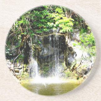 Cachoeira de Sunreflected Porta Copos De Arenito