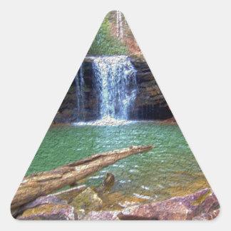 Cachoeira do Appalachian da região selvagem Adesivo Triangular