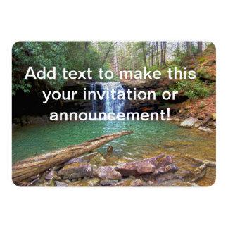 Cachoeira do Appalachian da região selvagem Convite 12.7 X 17.78cm