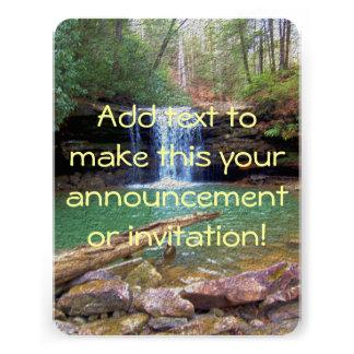 Cachoeira do Appalachian da região selvagem Convite Personalizados