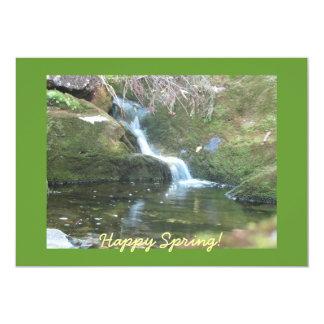 Cachoeira do primavera convite 12.7 x 17.78cm