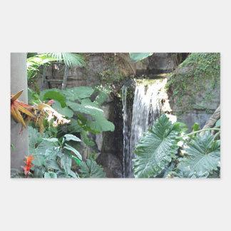 Cachoeira floral adesivo retangular