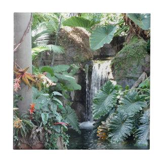 Cachoeira floral azulejo quadrado pequeno