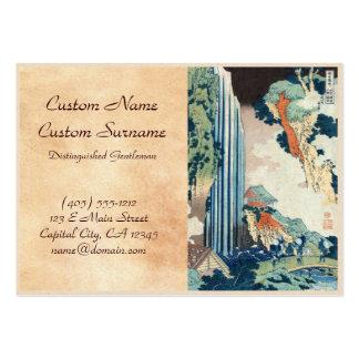 Cachoeira japonesa legal de Hokusai do ukiyo-e do Cartão De Visita Grande