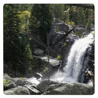 Cachoeira no parque de Estes Relógio De Parede