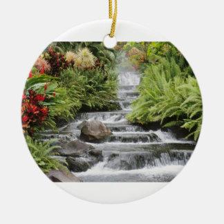 Cachoeira Ornamento De Cerâmica Redondo