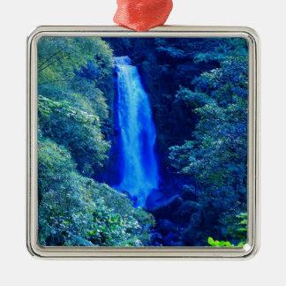 Cachoeira Ornamento Quadrado Cor Prata