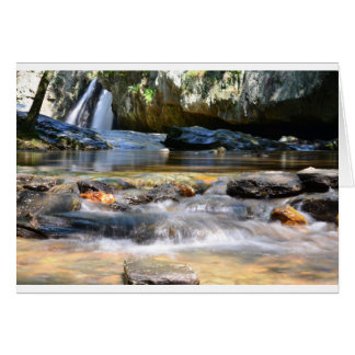 Cachoeiras bonitas cartão comemorativo