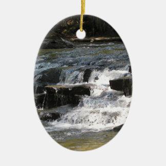 Cachoeiras Ornamento De Cerâmica Oval