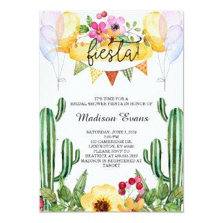 Cacto e convite floral da festa do chá de panela