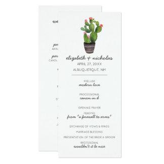 "Cacto floral cor-de-rosa convite 10.16"" x 23.49cm"