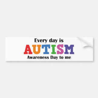 Cada dia é-me dia da consciência do autismo adesivo para carro