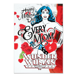 Cada mamã é mulher maravilha convite 8.89 x 12.7cm