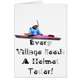 Cada vila precisa um verificador do capacete cartão