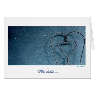 Cadeira do coração cartão comemorativo
