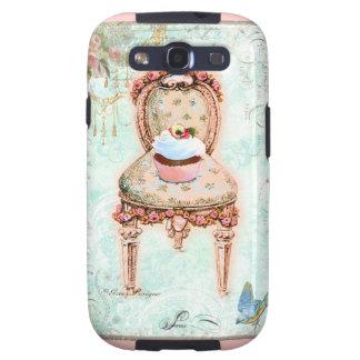 Cadeira francesa do cupcake & do Victorian Samsung Galaxy S3 Capas
