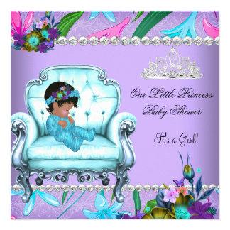 Cadeira roxa azul da cerceta do rosa da menina do convite