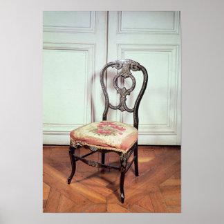 Cadeira, segundo estilo do império pôster