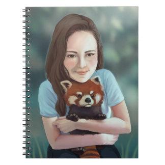 Caderno Abraço da panda vermelha
