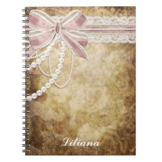 Caderno antigo do falso elegante