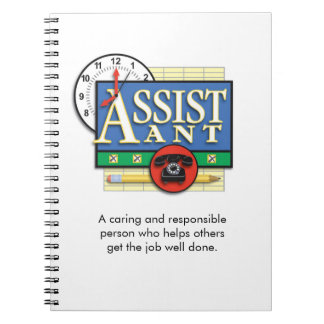 "Caderno ""assistente"""