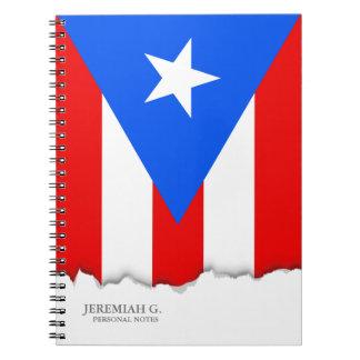 Caderno Bandeira porto-riquenha clássica