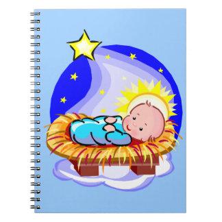 Caderno Bebê bonito Jesus e estrela