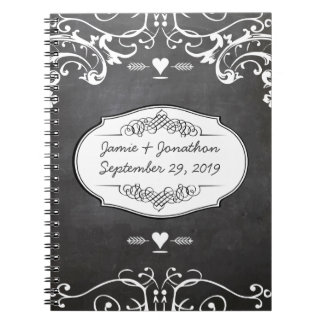 Caderno Casamentos da tipografia do quadro