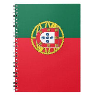 Caderno com a bandeira de Portugal