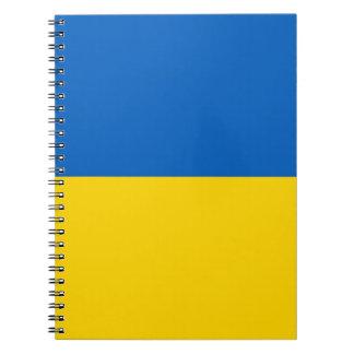 Caderno com a bandeira de Ucrânia