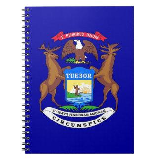 Caderno com a bandeira do estado do Michigan