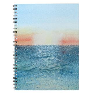 Caderno com Seascape nenhuma pintura de 2.