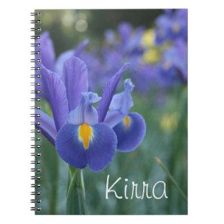 Caderno conhecido personalizado do presente da