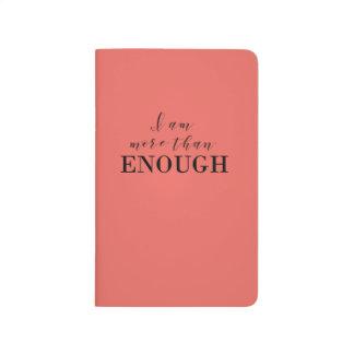 Caderno coral com citações inspiradores diário