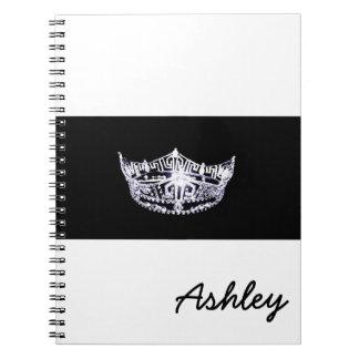 Caderno-Coroa do estilo da senhorita América & Cadernos Espiral